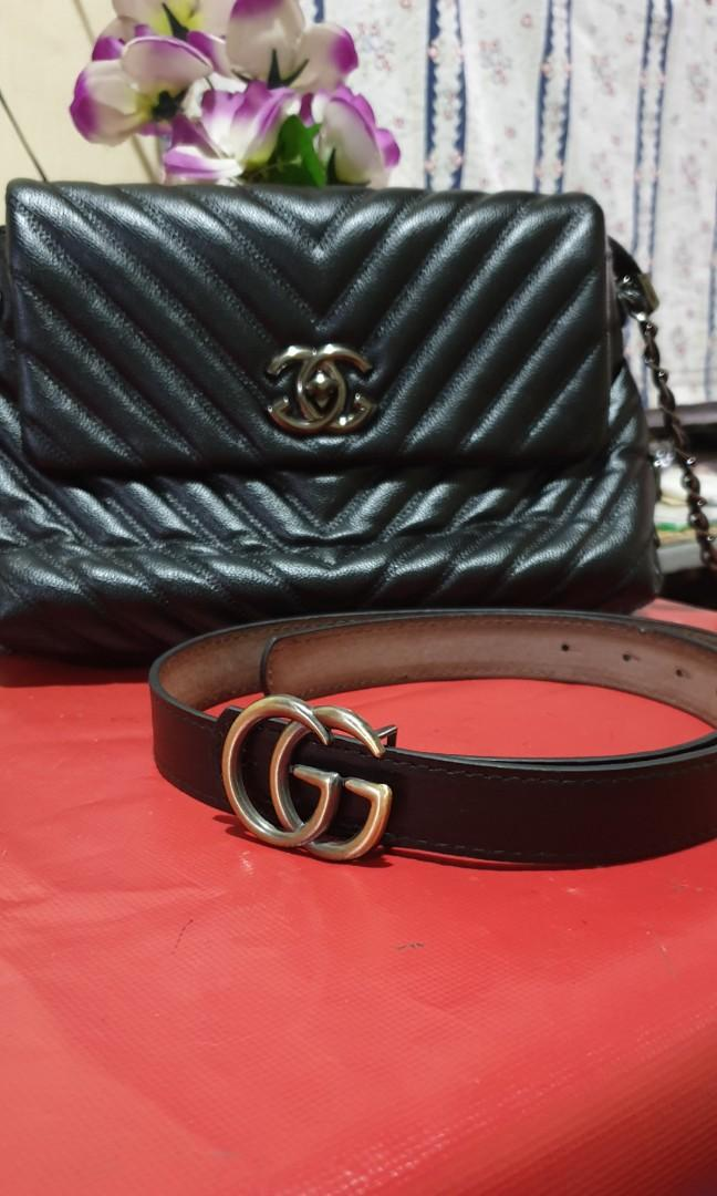 0b4bb49f4 Bundle Gucci inspired sling bag and belt on Carousell