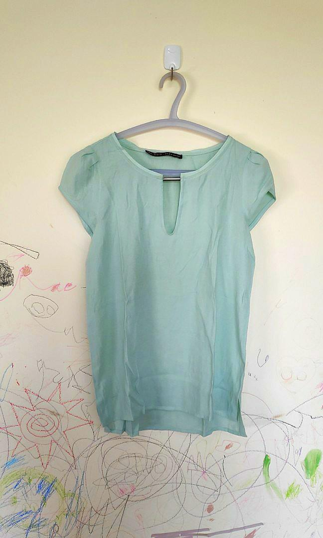 Chiffon Top Light Turquoise