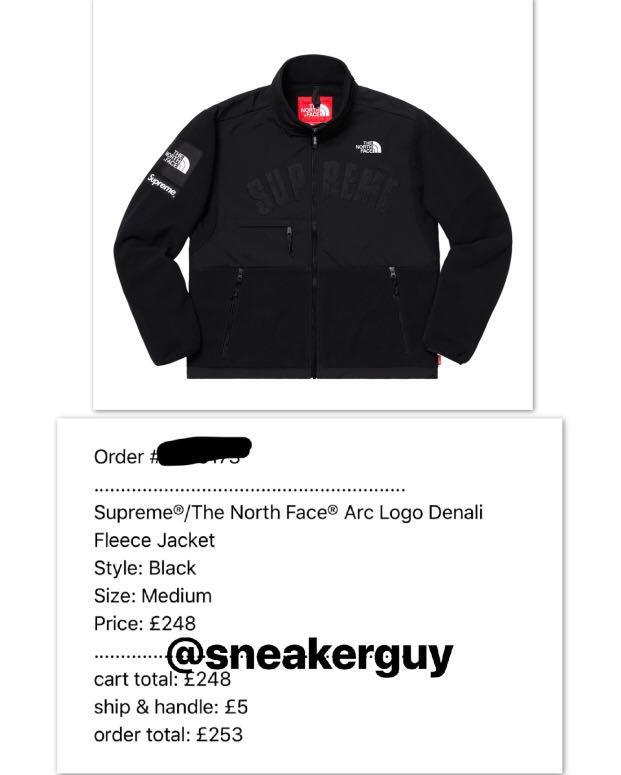 e6f1041e0 Confirmed) Supreme The North Face Fleece Black, Men's Fashion ...