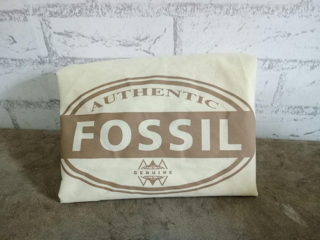 Fossil Black Woven Bag - Tas Branded Preloved