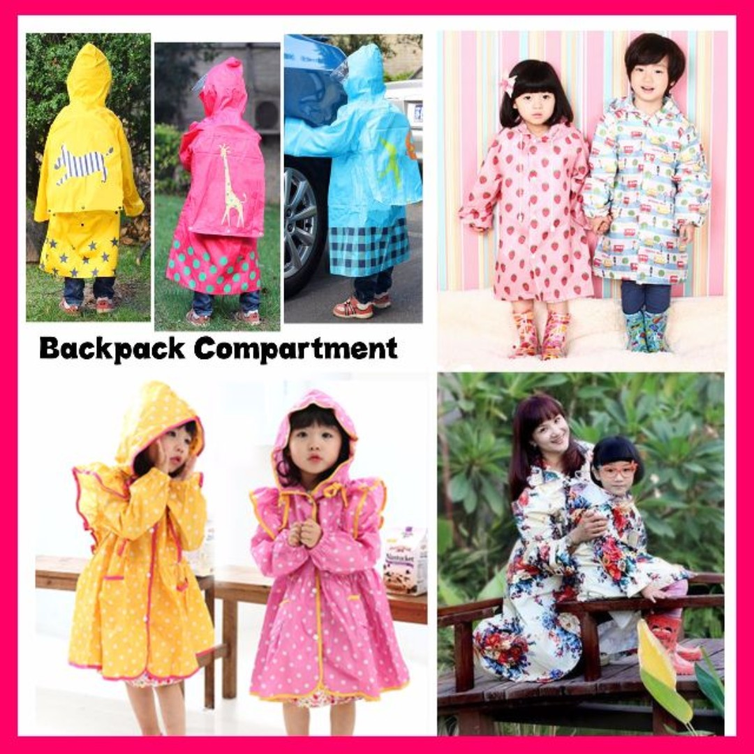 b515a04bfab6c ★FREE Shipping for 2pcs Raincoats★Children/Adult Raincoat Waterproof  Rainboots Umbrella Cute Princess Dress★Smally Rain Coat Boots Poncho ...