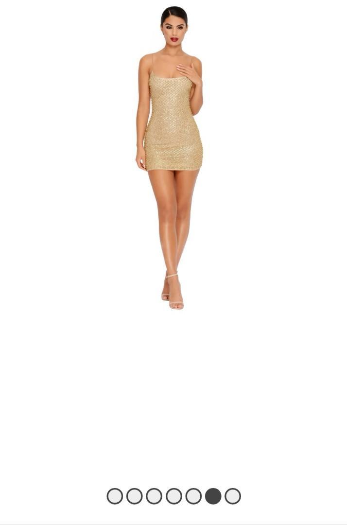 Gold mini dress Australian brand (size US 2, AUS 6)