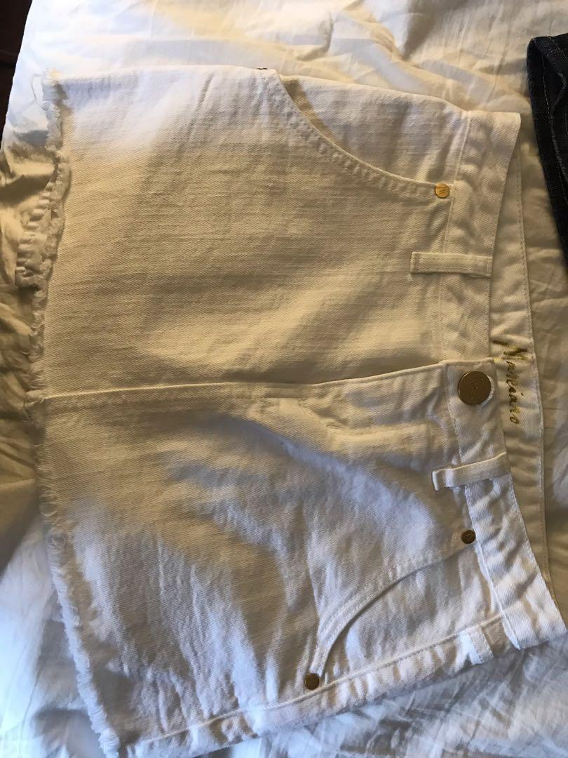 GUESS denim skirt size 24 & MARCIANO white denim skirt size 24