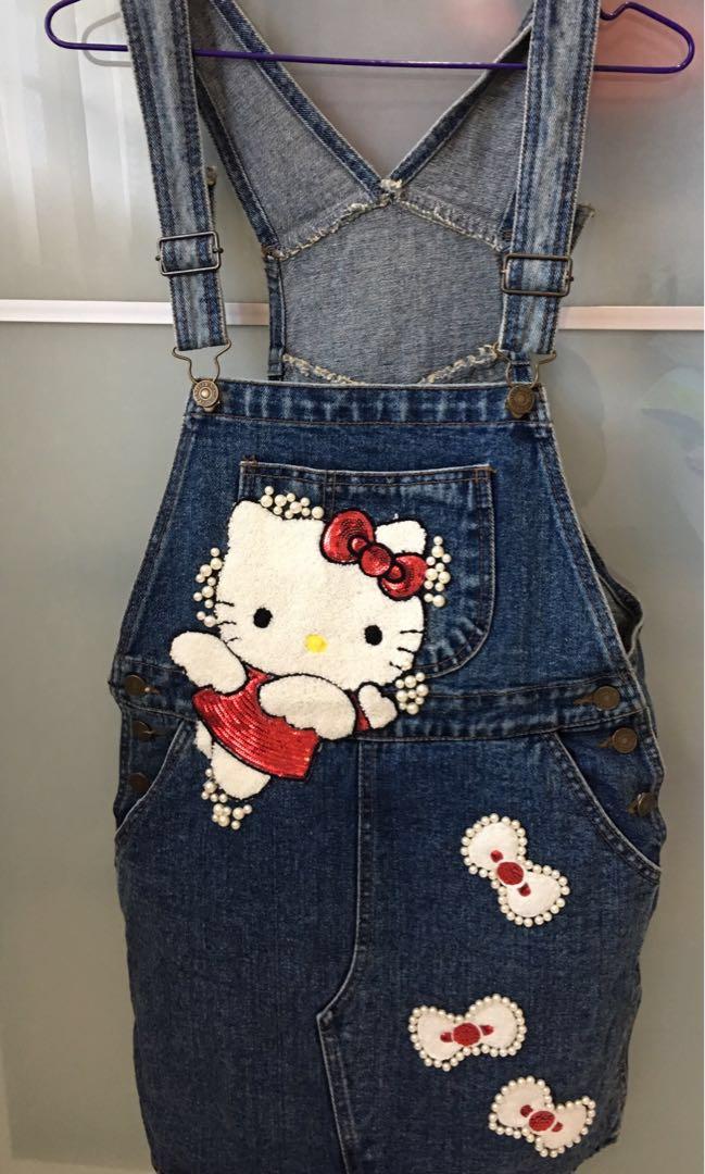 289476dda Hello Kitty Denim Overalls, Women's Fashion, Clothes, Pants, Jeans ...