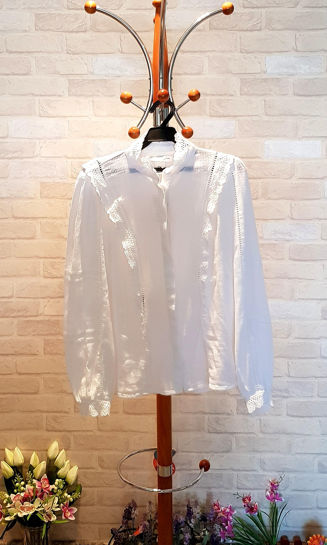 c17f582c5fc6bb H&M Victorian English White Lace Blouse/Top, Women's Fashion ...