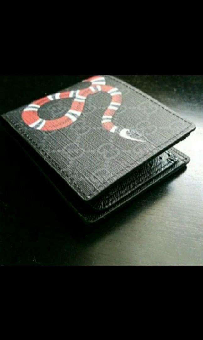 f85afa3adf9 PRE ORDER Kingsnake Gucci Supreme GG Snake Wallet Beige Black Color ...