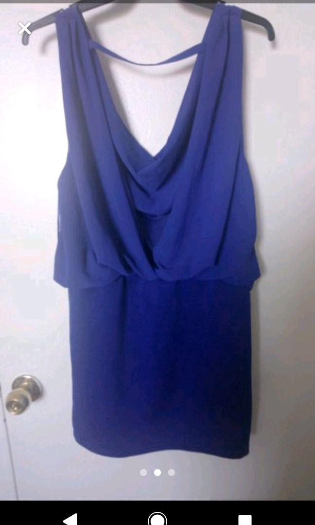 Large Blue Dress