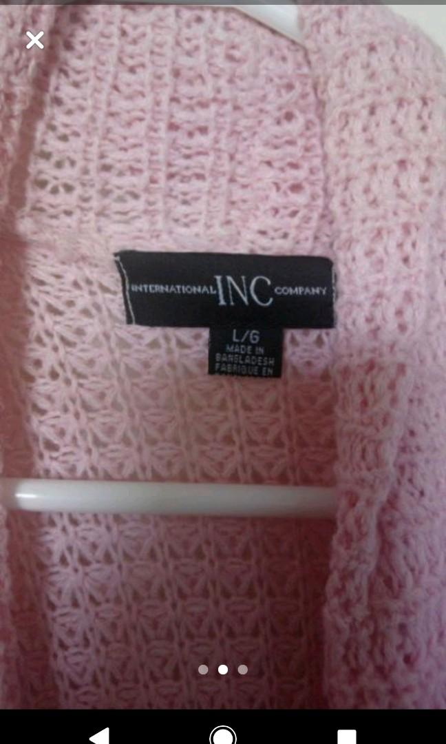 Large Pink Long Sleeve Long Cardigan