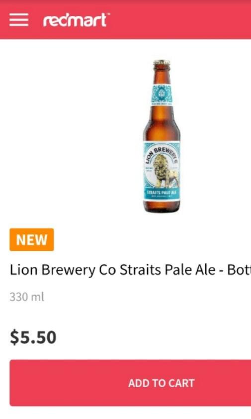 Lion Straits Pale Ale x 6 bottles / $4 each