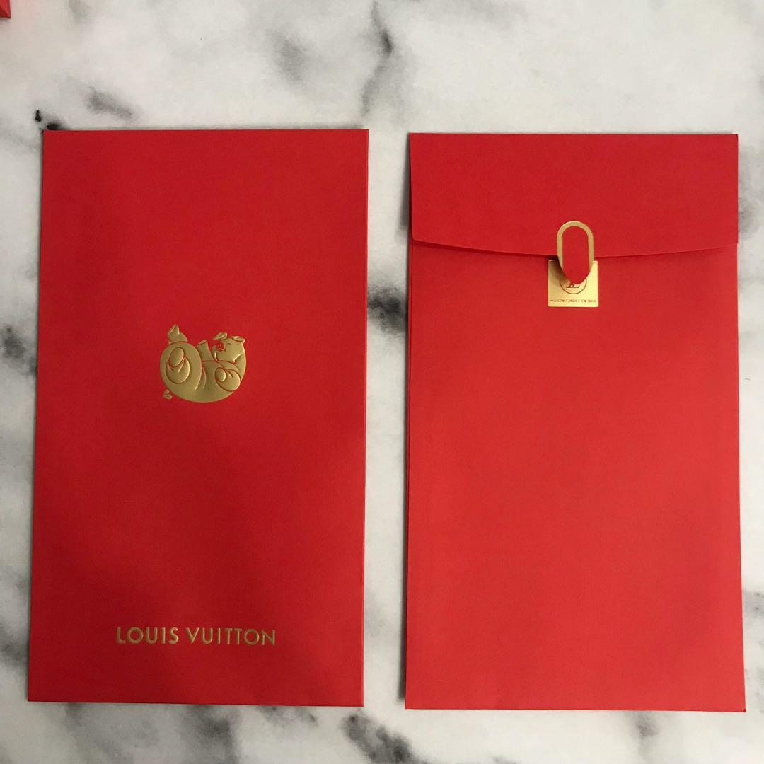 LOUIS VUITTON LV CHINESE NEW YEARS 2019 PIG RED POCKETS ENVELOPES (12 QUANTITY)