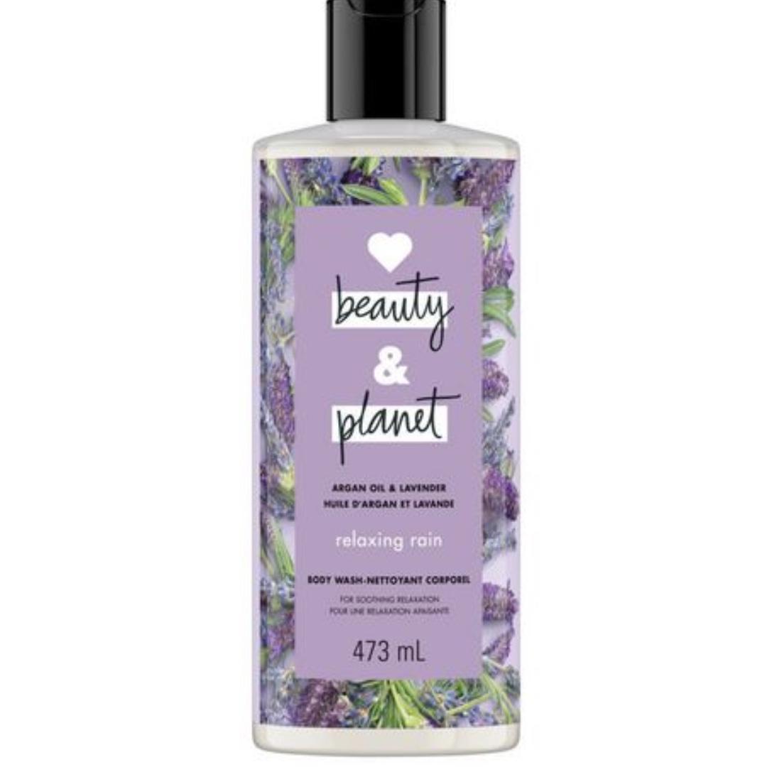 Body Wash Love Beauty And Planet Argan Oil & Lavender Relaxing Rain 473 mL