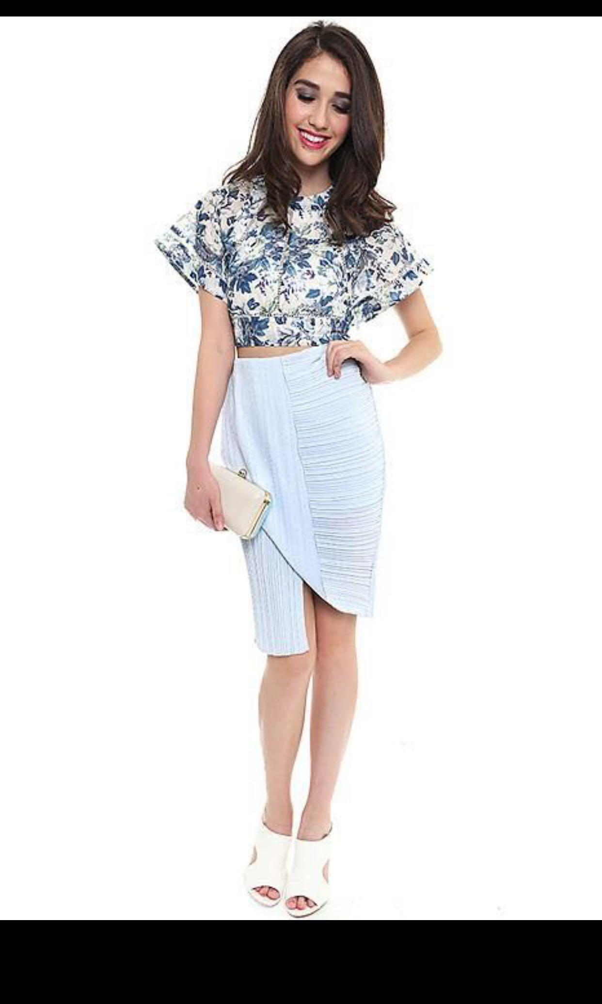 Mds Pleated fold wrap skirt