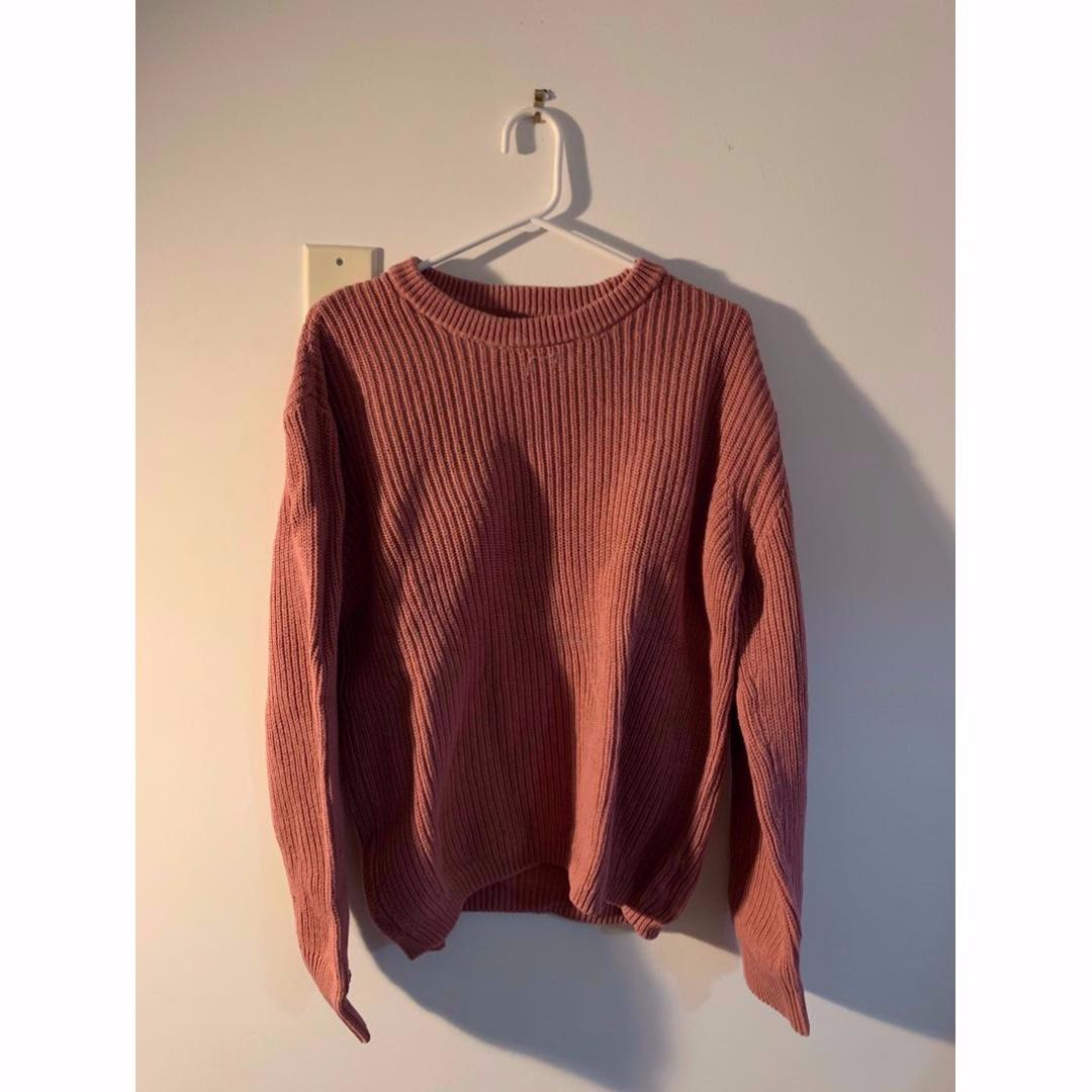 Men's Pink Urban Outfitters knitted Sweater (Medium)