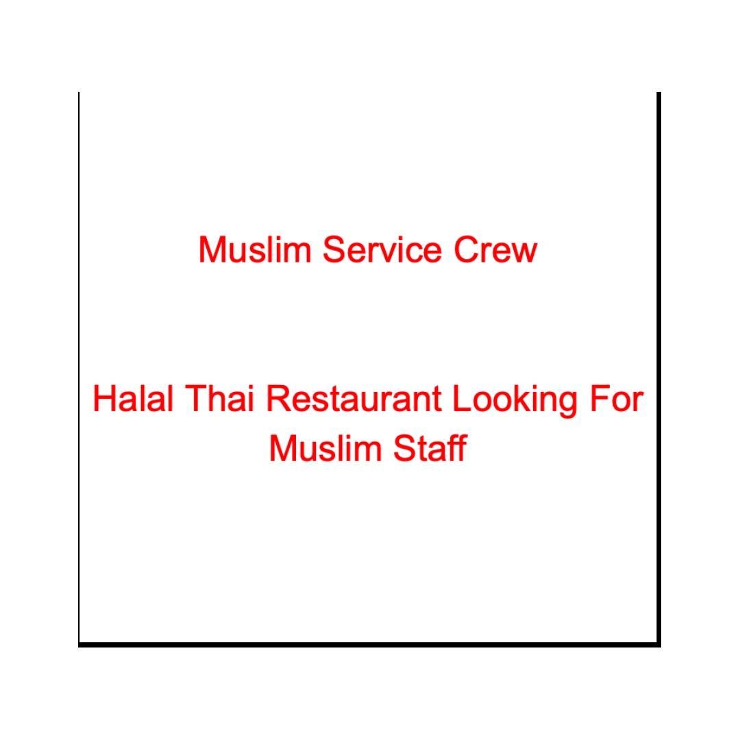 Muslim Service Crew (Cashier and Server)