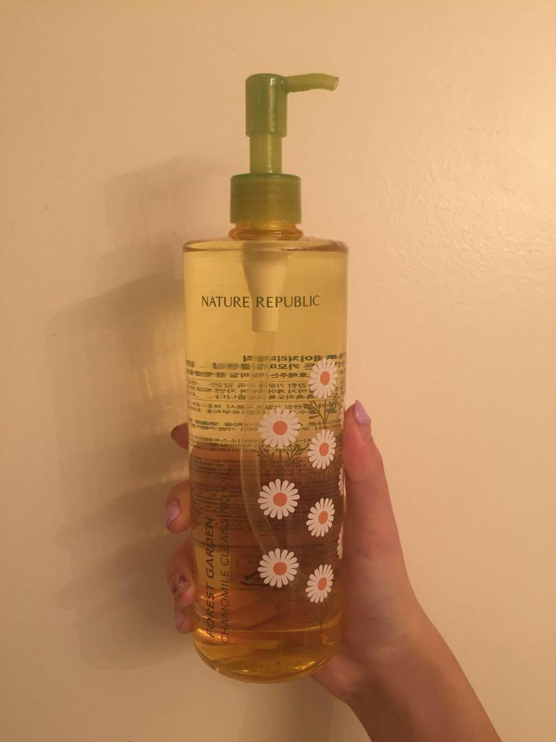 Nature republic chamomile cleansing oil makeup remover