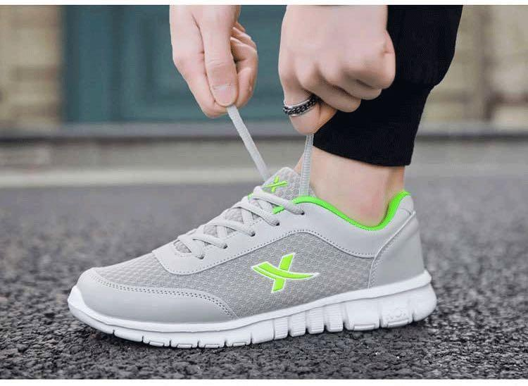NEW 全新 防滑透氣網布灰綠色波鞋 Slip Resistant Air mesh fabric Grey Green Sneakers