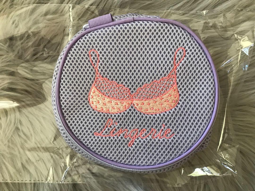 New mesh embroidery underwear storage bag Laundry bag Travel bag Portable storage bag