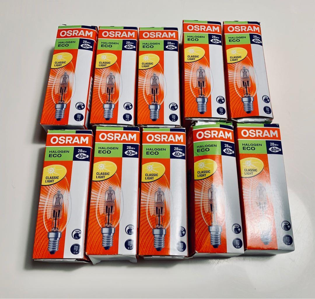 全新/osram鹵素燈泡64542ECO 28W 10個/搬家出清