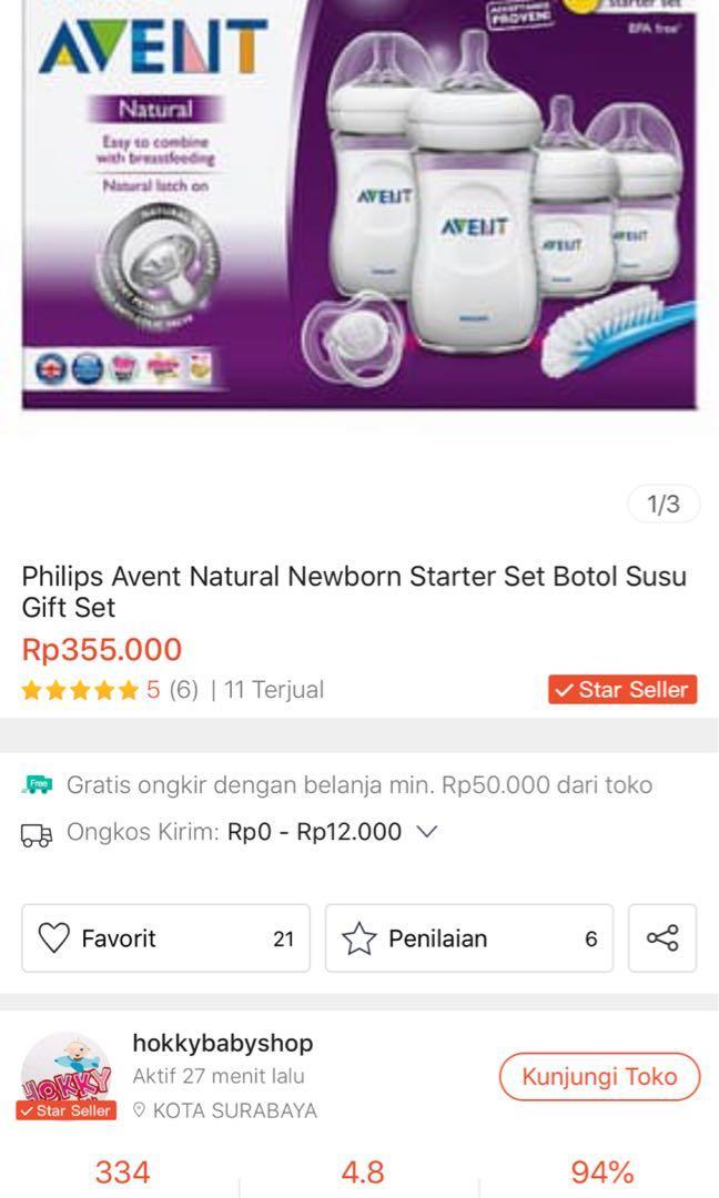 Phillips Avent Newborn Starter Set / Botol Susu Avent