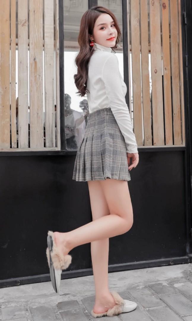 Plaid korean style skirt