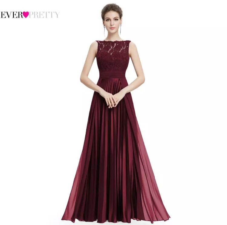 f605d275bab PO) 4-20 Evening Dresses Gorgeous Formal Round Neck Lace Long Sexy ...