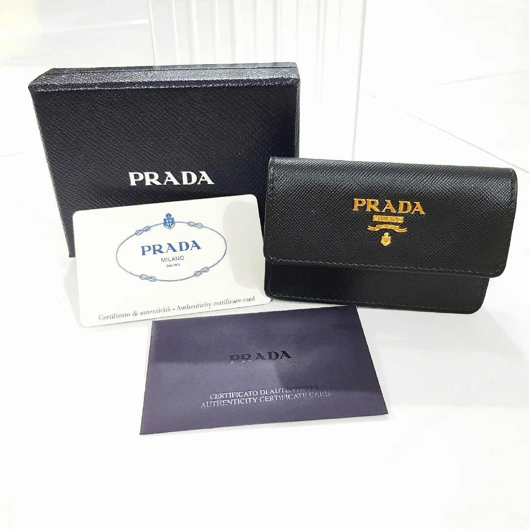 74d9e38a8615 Prada 100% Authentic Leather Card Holder, Luxury, Bags & Wallets ...