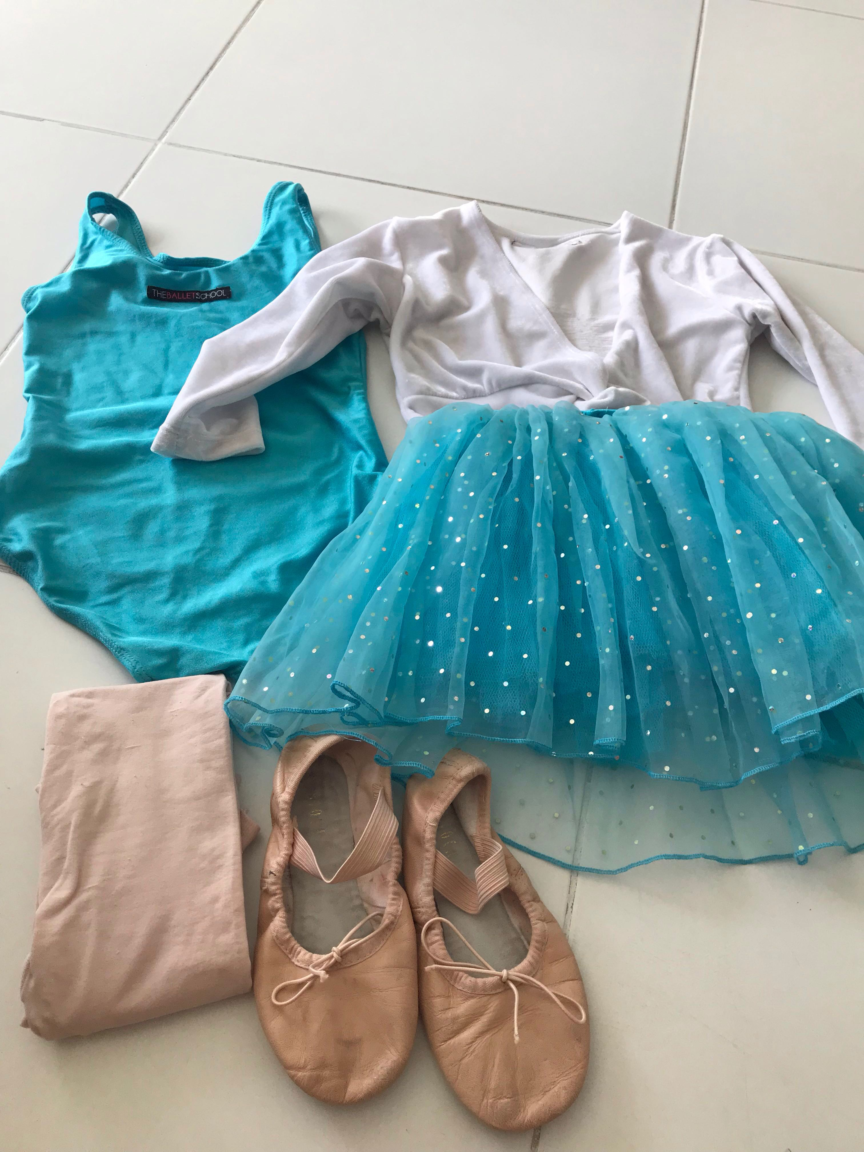 42a15878c72c3 Preloved the ballet school uniform size 1 for toddler class .. ideal for  kids who want start learning ballet.. Shoe brand are Bloch size 17cm .. not  for ...