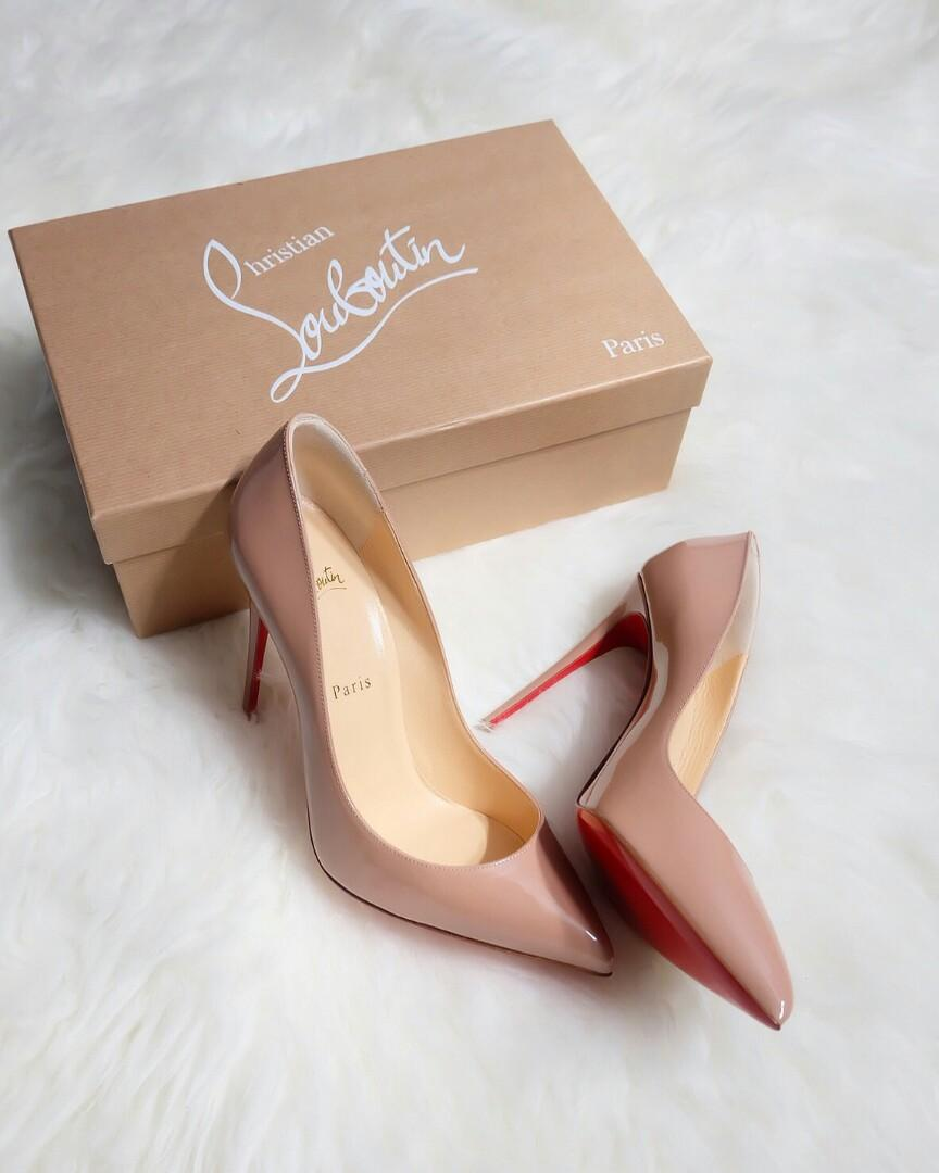 Ready Louboutin Pigalle Follies 100mm nude patent  Size 38.5 : 7.950.000