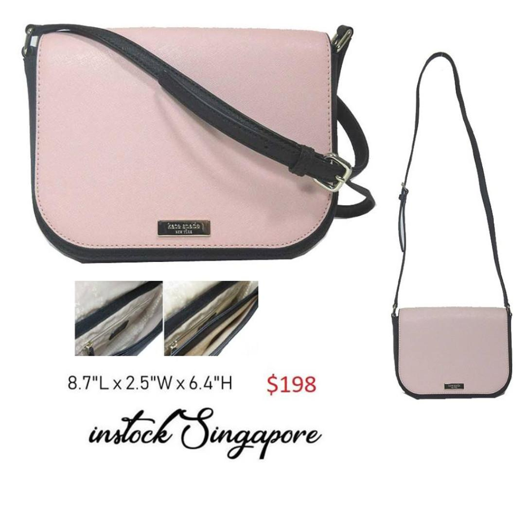 READY STOCK authentic new  Kate spade Women's Laurel Way Larrge Carsen Leather Cross Body Bag wkru5533