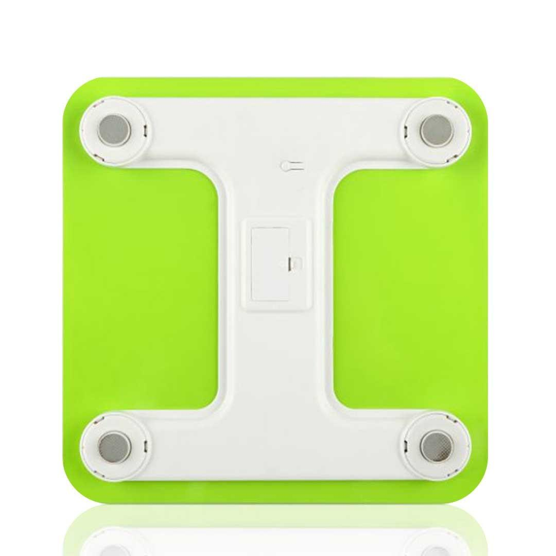 SOGA 180kg Digital Fitness Weight Bathroom Gym Body Glass LCD Electronic Scales White/Green