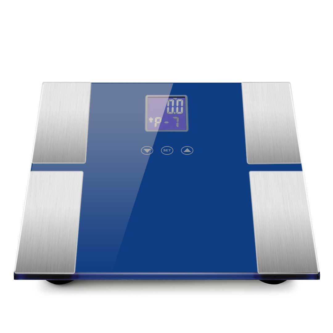 SOGA 2 x Digital Body Fat Scale Bathroom Scale Weight Gym Glass Water LCD Black/Blue