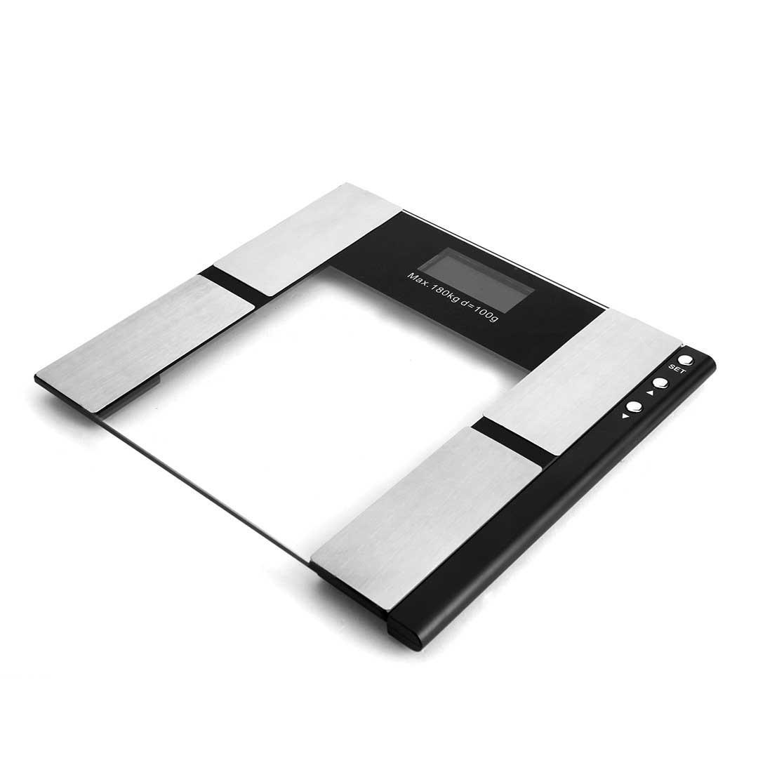 SOGA 2 x Digital Body Fat Scale Bathroom Scale Weight Gym Glass Water LCD Black/Glass