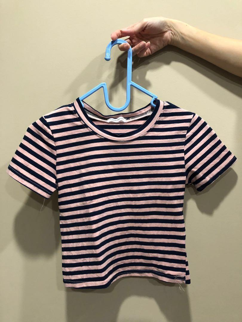 💛 Striped Crop Top