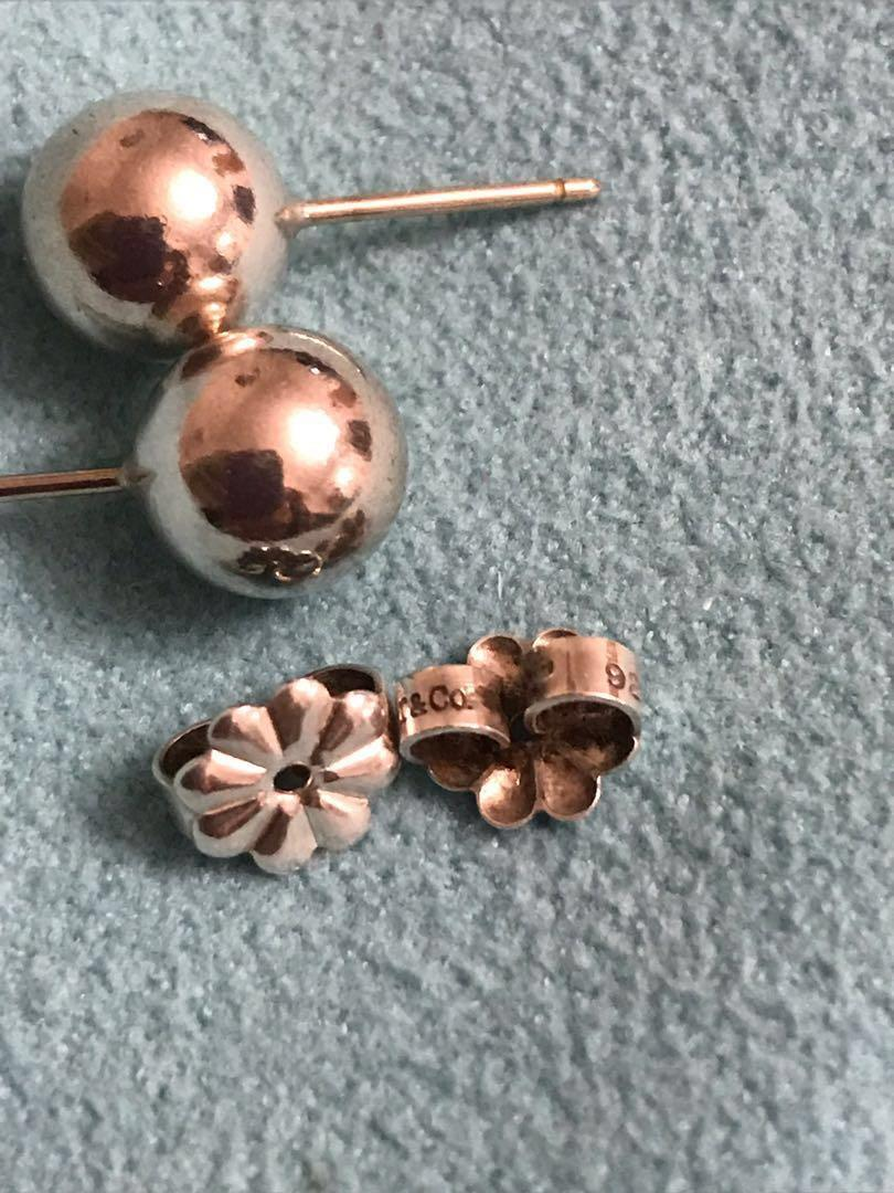 Tiffany 8mm ball earrings very good condition #SwapCA