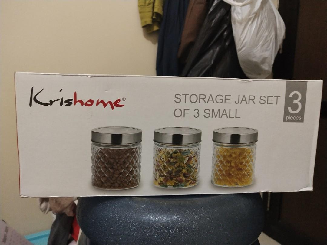 Toples Kaca-Jar Set. Merk:Krishome