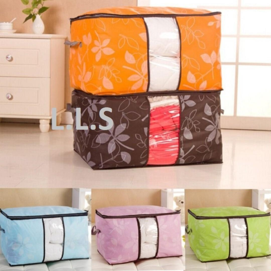 Under Bed Storage Bag Container Clothes Organizer Foldable 2 Piece Set New (HM1056) Singapore Seller + 100% Authentic