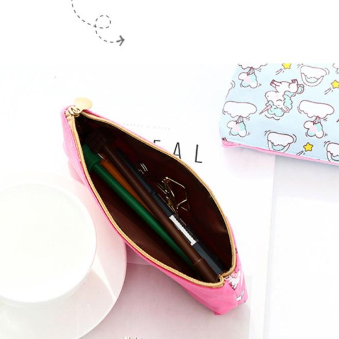 Unicorn Pencil Pouch / Unicorn Theme Birthday Goodies / Pencil Case