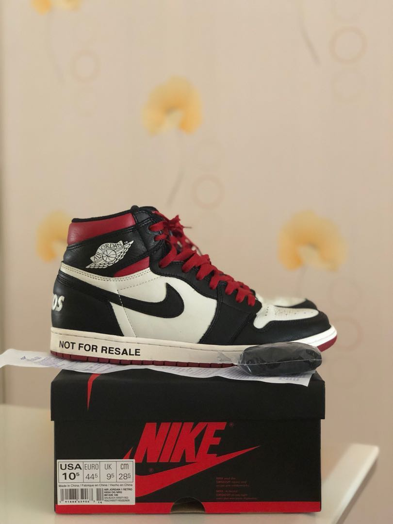 f12220311865 USED Nike Air Jordan 1 Retro High OG Not For Resale NFR Varsity Red ...