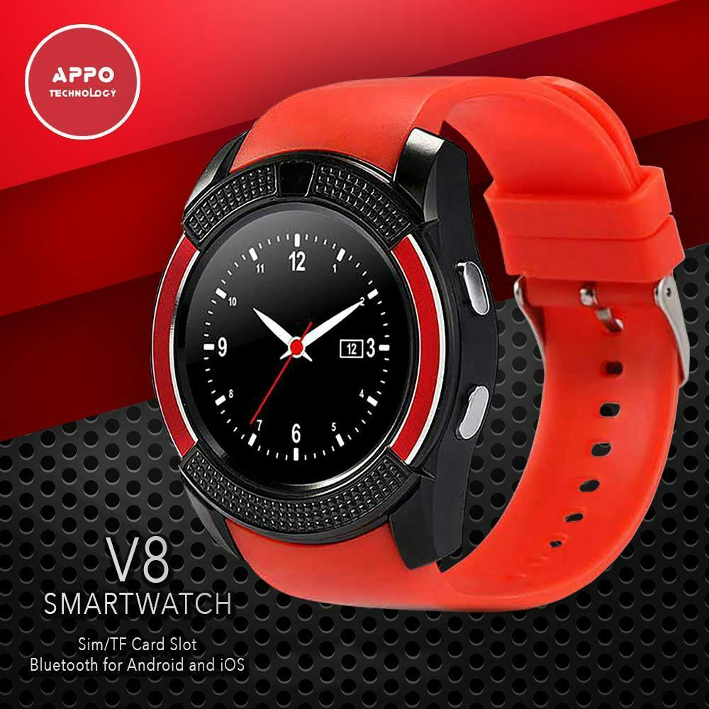 V8 Smart Watch Bluetooth Sport Watch Android Support TF SIM