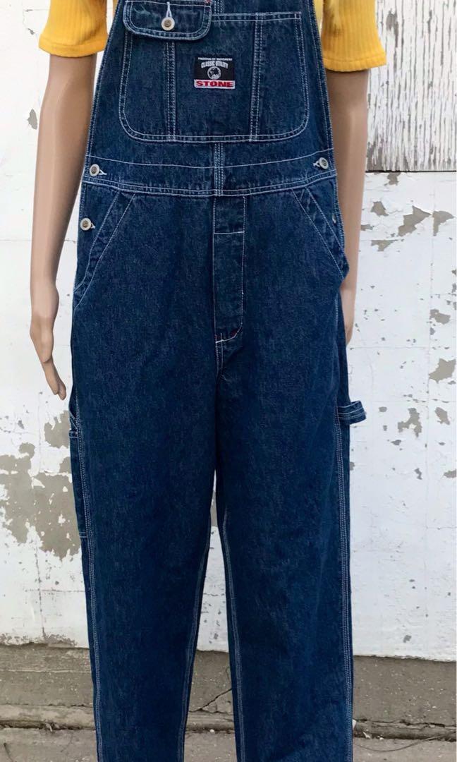 Vintage Blue Jean Overalls 1990s NOS Stone Brand