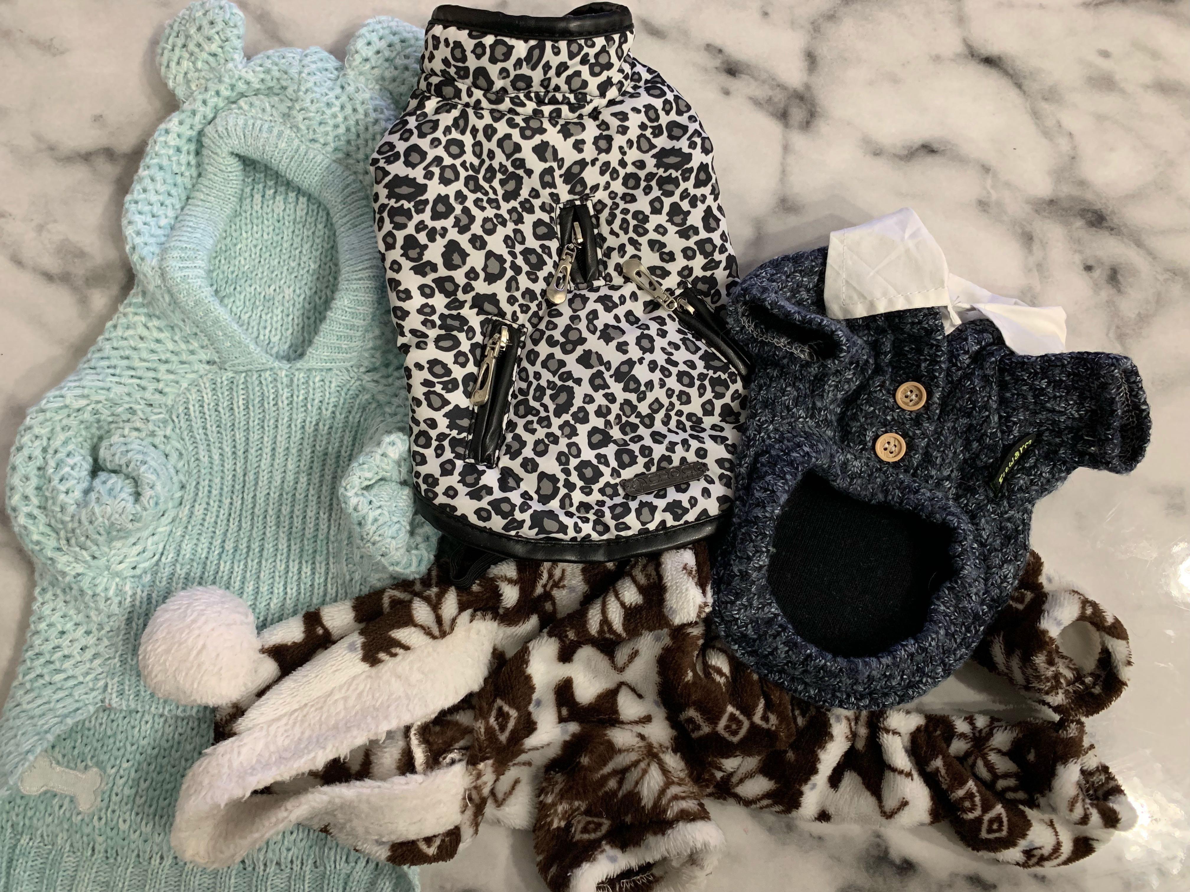 XS/S DOG UNISEX CLOTHES 4PCS