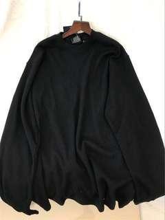 black oversized ulzzang sweater