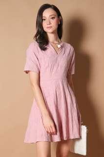 Kaede Kimono Sleeve Dress in Dusty Pink