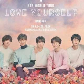 BTS Thailand Concert Day 2 Pink zone ticket