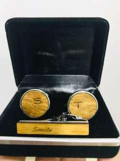 Personalized cuff links and tie pin