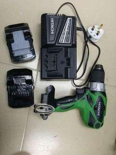 日立 18V充電鑽 兩舊電