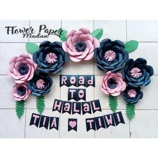 Paper Flowers murah bebas request warna