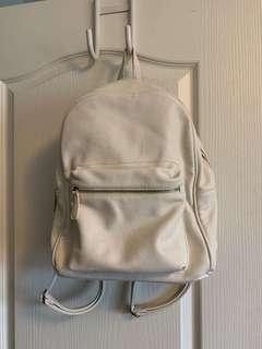 Forever 21 white backpack