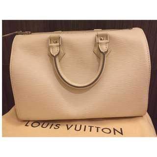 Louis Vuitton Ivory Epi Leather Speedy 30 Bag - Brand New