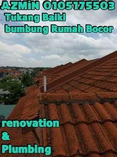 0105175503 TUKANG BAIKI BUMBUNG BOCOR, AREA TAMAN MAJU JAYA
